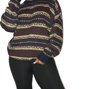 Vintage Chunky Knit Sweater Size XL